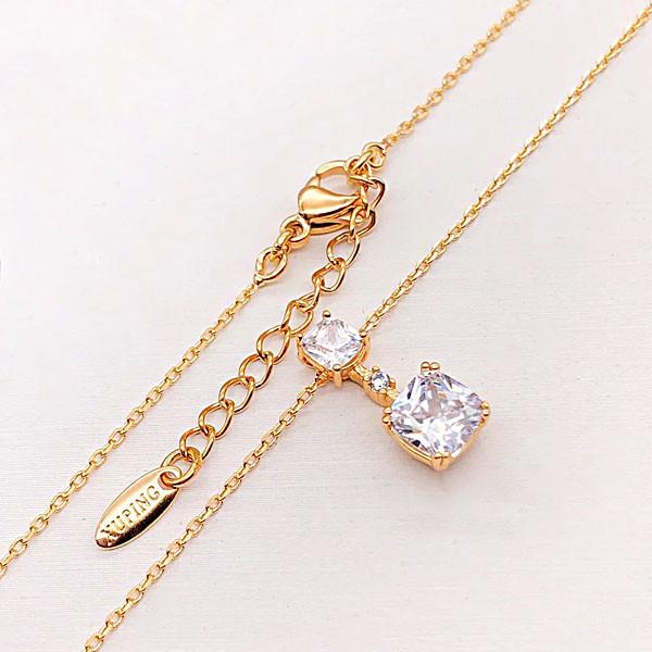 Цепочка с кулоном Xuping Jewelry 44/47 см медицинское золото позолота 18К А/В 3-0110
