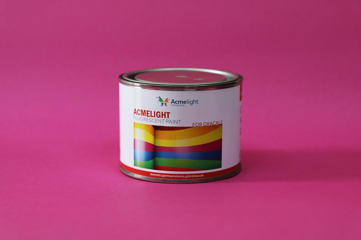 Acmelight Fluorescent paint for Oracal флуоресцентна фарба для нанесення на плівку Oracal зелена світінням 0,5 л