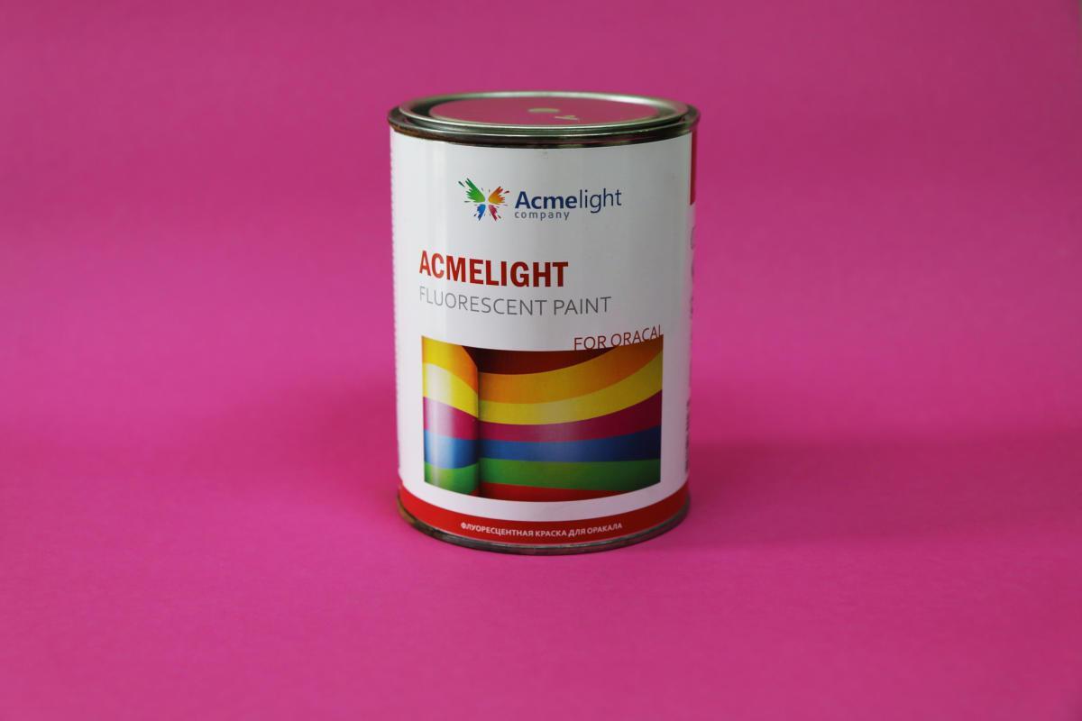 Acmelight Fluorescent paint for Oracal флуоресцентна фарба для нанесення на плівку Oracal біла 1 л