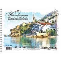 Альбом для акварели А3, 20 листов на спирали KRAFT Color