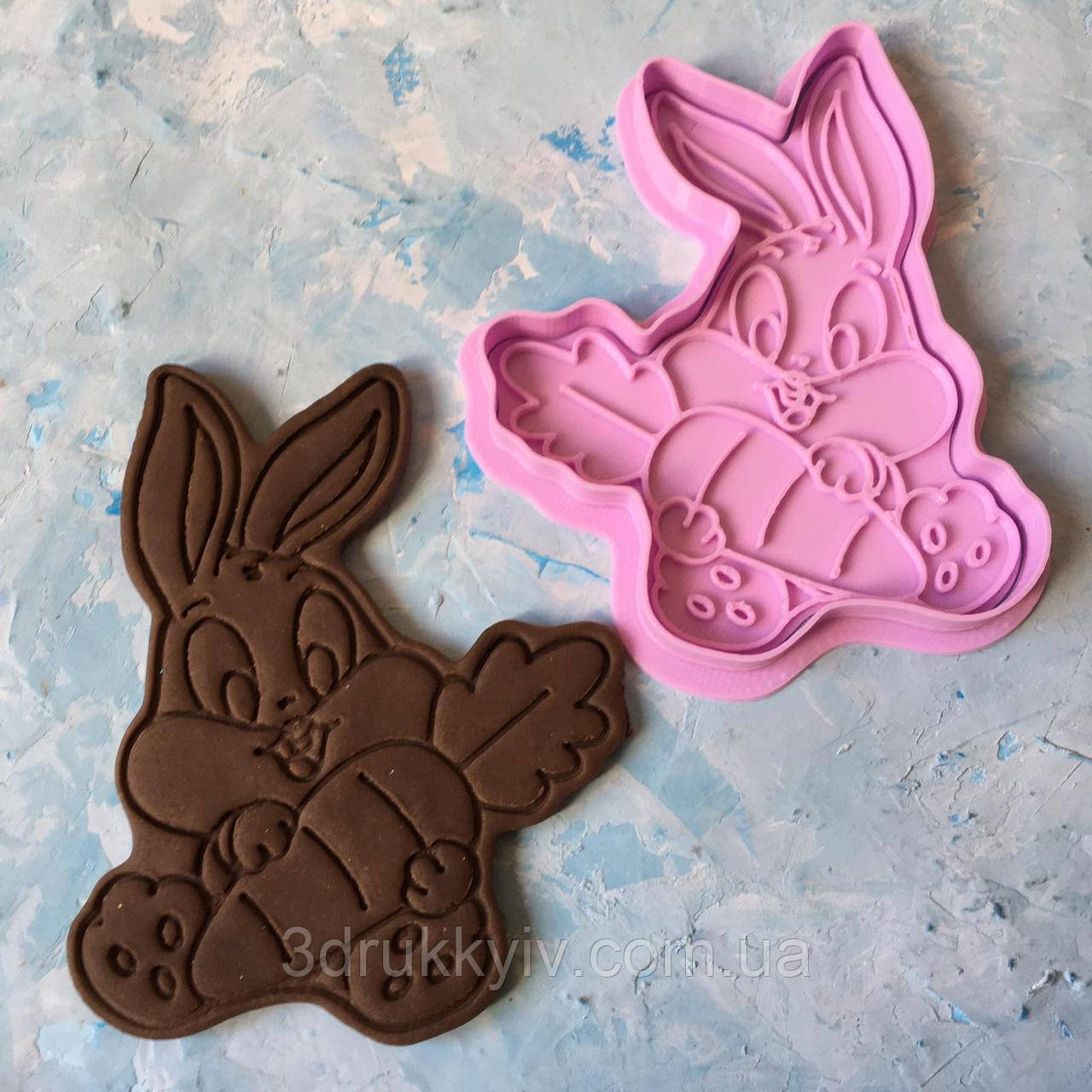 "Вирубка зі штампом ""Кролик"" / Вырубка - формочка со штампом для пряников"