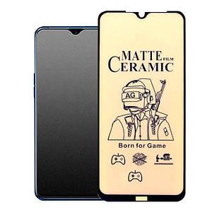 МАТОВА плівка для Xiaomi Mi 9 lite / CC9 Black ГНУЧКА ЩІЛЬНА для Сяоми мі 9 лайт чорна