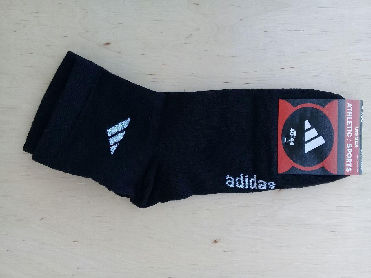 Шкарпетки жіночі підліткові середня висота розмір 36-40 чорні ADIDAS