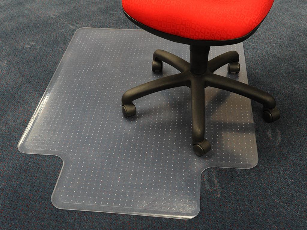 Захисний килим під крісло прозорий 92х122см. для ковроліну Німеччина. Товщина 5,0 мм