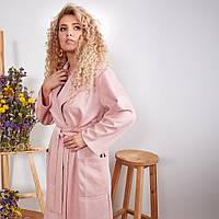 Пальто тренч на запах женское 43553, фото 1