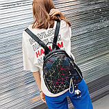 """Женский рюкзак """"ПАУТИНКА"""" школьный портфель черный, фото 3"""