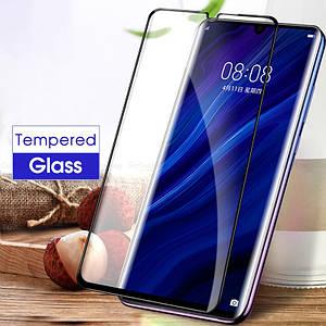 Защитное стекло 5D для Huawei P30 ELE-L29 ELE-L09 на весь экран защитное стекло на хуавей п30 черное