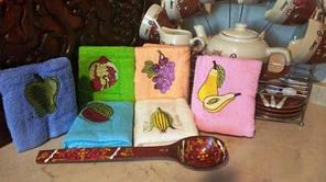 Набір кухонних рушників Туреччина (махрові) Розмір 30/50-6шт.в упаковці.