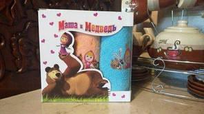 """Дитячі Турецькі рушники """"Маша і ведмідь""""."""