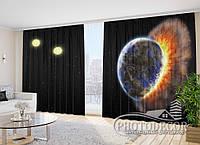 """Фото Шторы """"Взрыв на планете"""" 2,7м*4,0м (2 полотна по 2,0м), тесьма"""