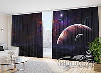 """Фото Шторы """"Звездное небо и планеты 1"""" 2,7м*4,0м (2 полотна по 2,0м), тесьма"""