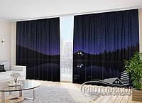 """Фото Шторы """"Звездное небо над водой"""" 2,7м*4,0м (2 полотна по 2,0м), тесьма"""