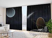 """Фото Шторы """"Комета и планеты"""" 2,7м*4,0м (2 полотна по 2,0м), тесьма"""
