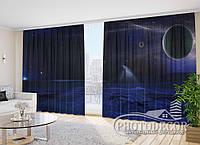 """Фото Шторы """"Кометы и планеты"""" 2,7м*4,0м (2 полотна по 2,0м), тесьма"""