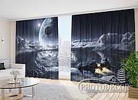 """Фото Шторы """"Космический корабль 1"""" 2,7м*4,0м (2 полотна по 2,0м), тесьма"""