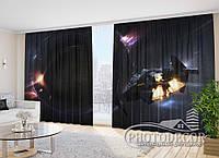 """Фото Шторы """"Космический корабль 2"""" 2,7м*4,0м (2 полотна по 2,0м), тесьма"""