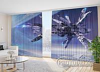 """Фото Шторы """"Космический корабль"""" 2,7м*4,0м (2 полотна по 2,0м), тесьма"""