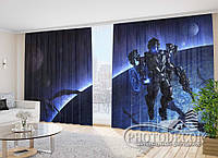 "Фото Шторы ""Космос Фентези"" 2,7м*4,0м (2 полотна по 2,0м), тесьма"