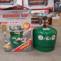 Баллон газовый-пикник комплект Rudyy VIP 5л с горелкой NEW усиленный