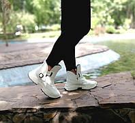 Білі шкіряні черевики від виробника, фото 1
