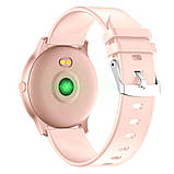 Жіночі стильні водонипроницаемые смарт годинник Reloj inteligente Smartwatch KW19 IP68 Pink ( фітнес браслет), фото 2