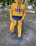 Спортивный костюм для мальчика детский Brawl Stars желтый осенний весенний | ЛЮКС качества