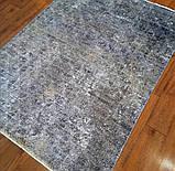 Практичный тонкий ковер в потертом стиле из бабмуковой нити, фото 3