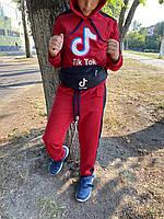 Спортивный костюм детский для мальчика Tik Tok красный осенний весенний | ЛЮКС качества