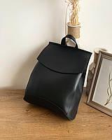 Сумка-рюкзак-трансформер женский из гладкой эко кожи Черный