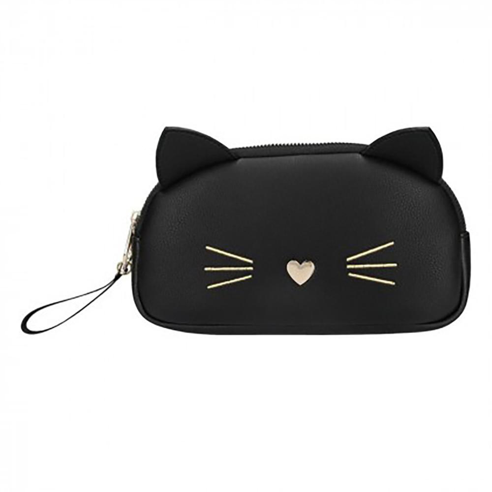 Маленька косметичка чорна Top Model Cat