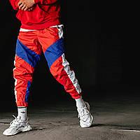 Спортивні штани Гармата Вогонь Split червоно-сині, фото 1