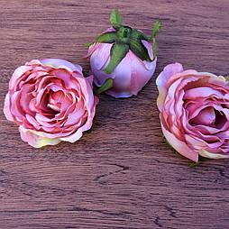 Головка пиона, пионовидной розы 8 см. пудровый