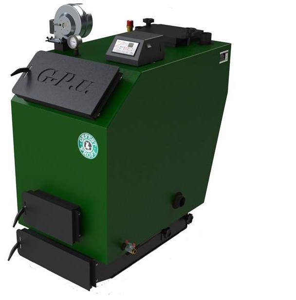 Твердотопливный котел верхнего горения электронная автоматика и вентилятором Gefest-Profi U 70 кВт