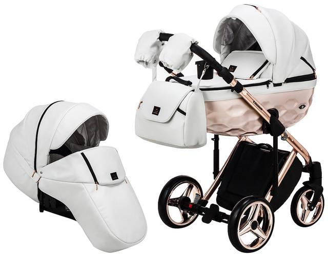 Детская коляска универсальная 2 в 1 Adamex Luciano jeans Q317 (Адамекс Лусиано, Польша)