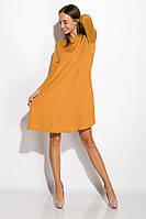Платье-туника с круглым вырезом 317F054 (Светло-горчичный), фото 1