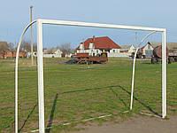 Ворота футбольні 3х2м з додатковою стійкою, фото 1