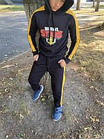 Спортивный костюм детский для мальчика Brawl Stars черно-желтый осенний весенний демисезонный ЛЮКС