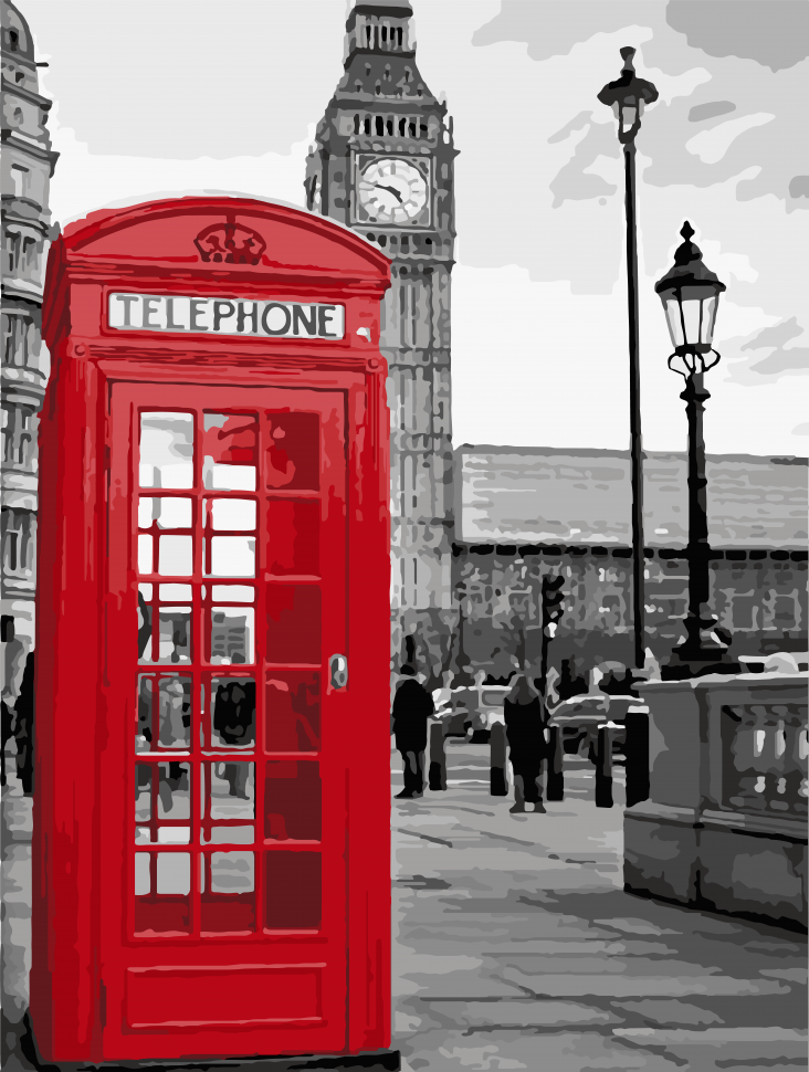 """Картина по номерам. Art Craft """"Звонок из Лондона"""" 40*50 см 11212-AC"""