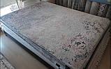 Сучасний килим з вкрапленнями рожево коралового кольору з шовку і бамбука, фото 4