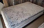 Сучасний килим з вкрапленнями рожево коралового кольору з шовку і бамбука, фото 3