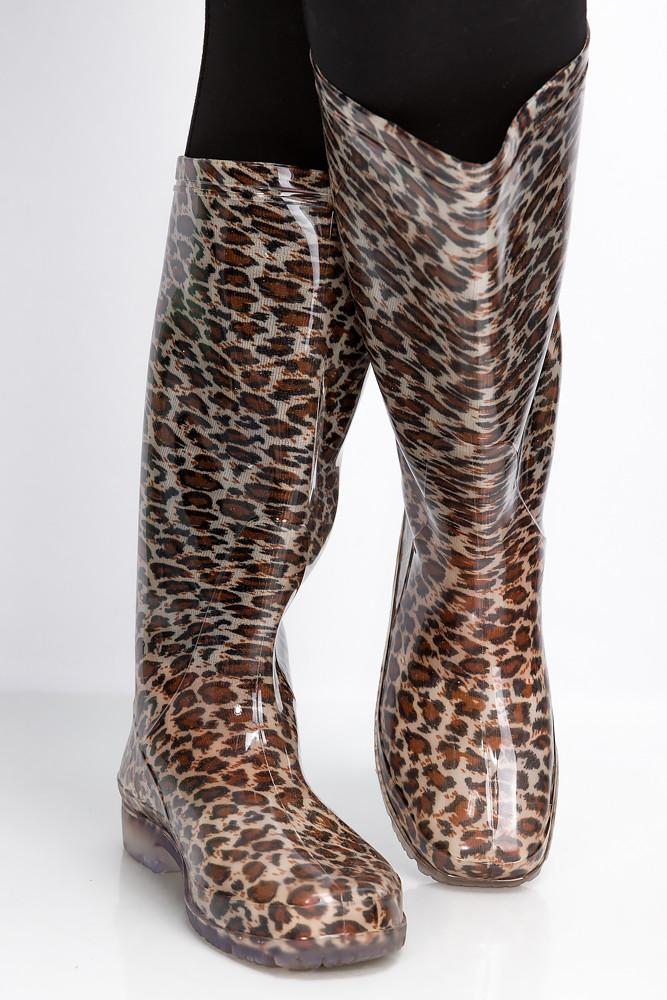 Сапоги женские 160P16 (Леопардовый)