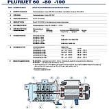 Многоступенчатый самовсасывающий электронасос Pedrollo PLURIJETm 4/100, фото 4