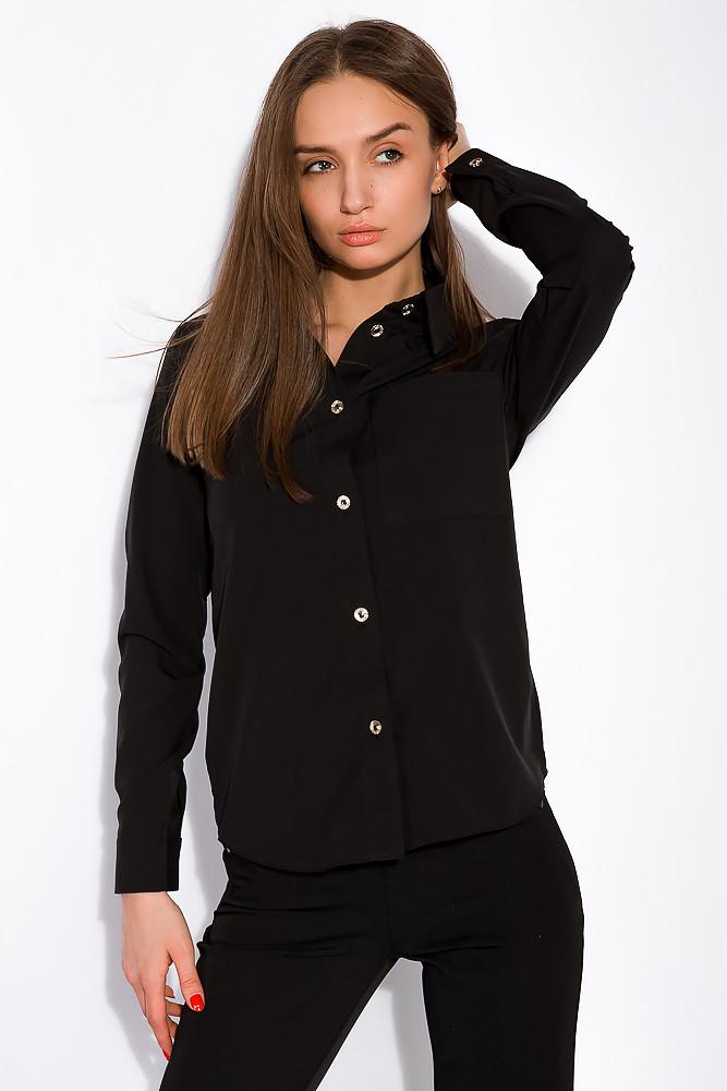 Базовая офисная рубашка 151P173 (Черный)