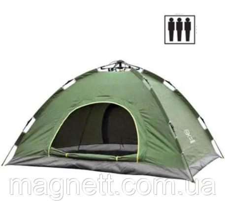 Палатка 3-х местная автомат 200х150х120см (разные цвета)
