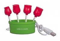 USB+хаб тюльпаны