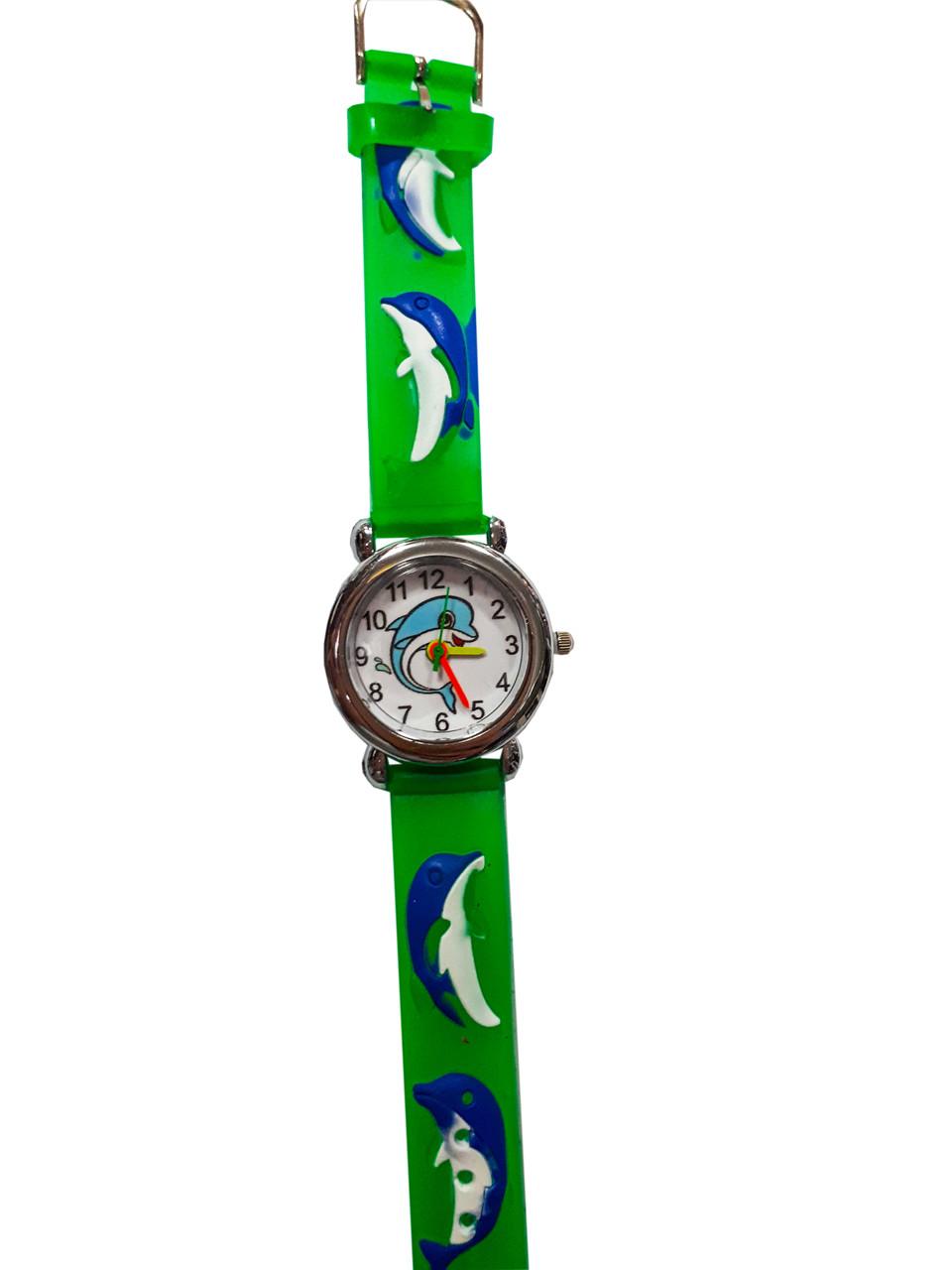 Часы детские  Дельфин зеленый опт