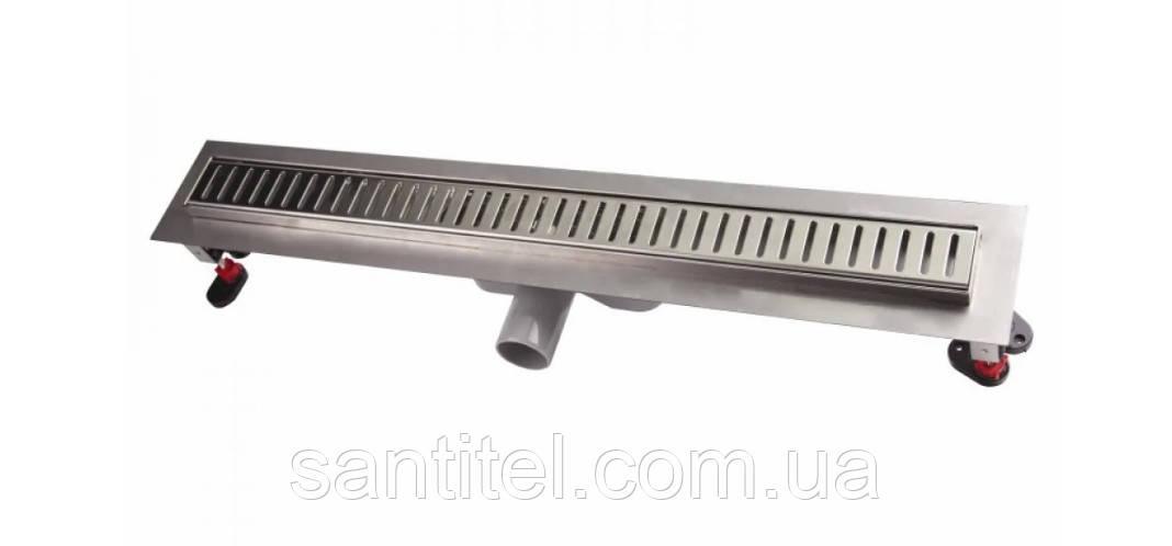Линейный трап Q-tap с решеткой 600 x 660 CRM