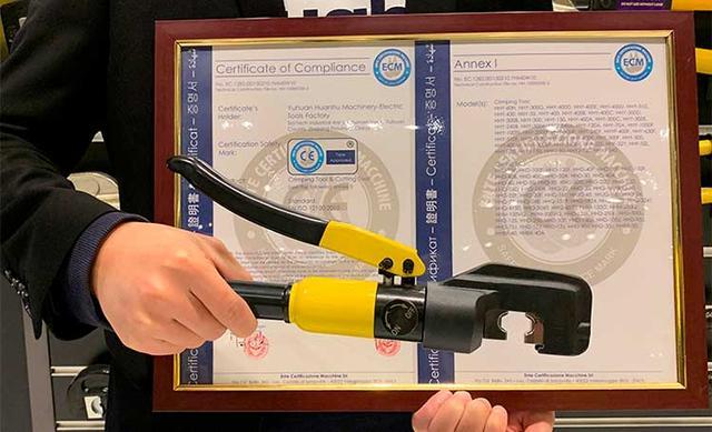 Гидравлические пресс для кабельных наконечников международный сертификат