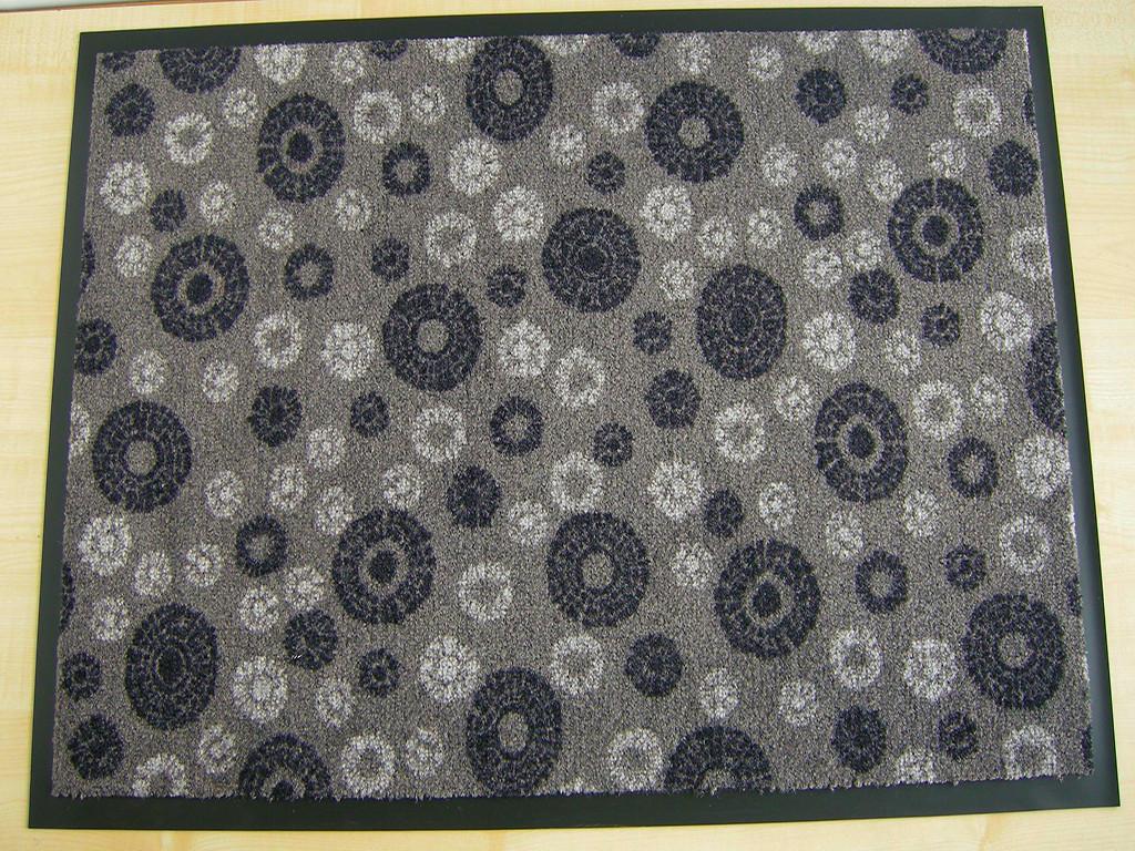 Ковер грязезащитный Снежинки, 90х150см., серый темный