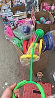 Нейроскакалка, скакалка на одну ногу SK1010, 4 цвета, светящаяся, 64 см длинна от колеса до кольца